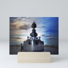 Battleship USS Texas  Mini Art Print