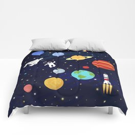 In space Comforters