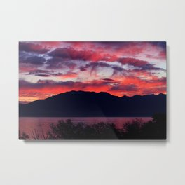 Sunrise at Utah Lake Metal Print
