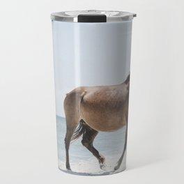 Horse Horse beach Travel Mug
