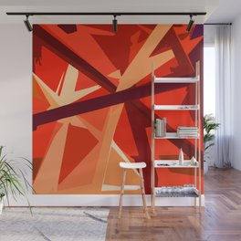 Red Fuel and Refuel Wall Mural