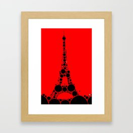 """Eiffel Tower Red Background - from """"Further Back"""" series Framed Art Print"""
