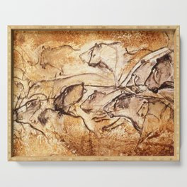 Panel of Lions // Chauvet Cave Serving Tray