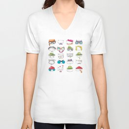 Wes Anderson Cats Unisex V-Neck
