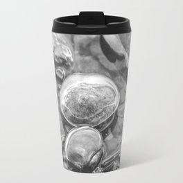 Ice Encased Rocks B&W Travel Mug