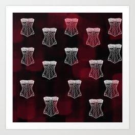 Corset pattern Art Print