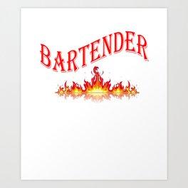 Smokin Hot Bartender Art Print