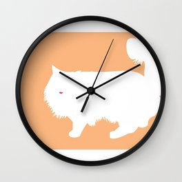 Cat Silhouettes: Ragamuffin Wall Clock