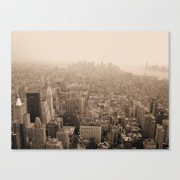 Sky Smog  Canvas Print