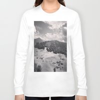 switzerland Long Sleeve T-shirts featuring Switzerland BW by Heather Hartley