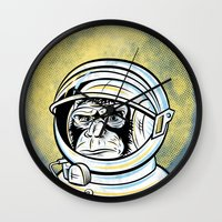 ape Wall Clocks featuring Space Ape by Fanboy30