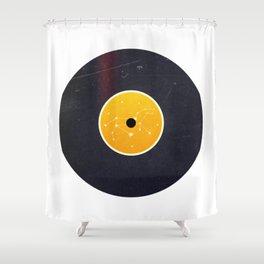 Vinyl Record Star Sign Art | Leo Shower Curtain