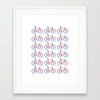 bikes Framed Art Prints featuring Bikes  by Keep It Simple