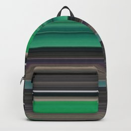 Green and grey abstract Backpack
