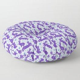 Bunny love - Purple Carrot edition Floor Pillow