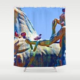 Art by Birdies Shower Curtain