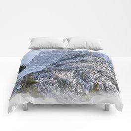 Mt Rundle & Raven (Canadian Rockies) Comforters