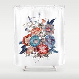 Morning Glories Flower Bouquet Shower Curtain
