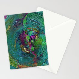 Abstract Distressed Mandala 638 Stationery Cards