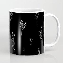 Black wildflowes Big Coffee Mug