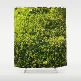 Tiny Mossy Swirls Shower Curtain