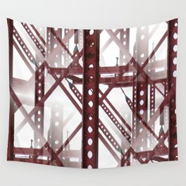 Red Steel Construction Wall Tapestry