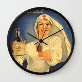 1918 Extremely Rare Amaro Aperitif Gino Boccasile Isolabella Vintage Advertising Food & Wine Poster Wall Clock