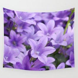 DREAMY - Purple flowers - Bellflower in the sun #1 Wall Tapestry