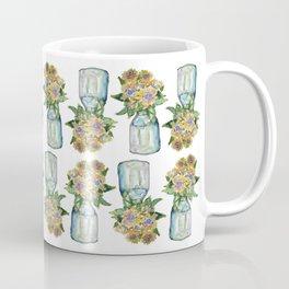 Watercolor Sunflower Vase Coffee Mug