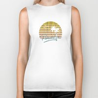 paradise Biker Tanks featuring Paradise by Anthony Troester