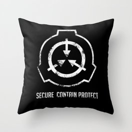 SCP: Secure. Contain Protect Throw Pillow