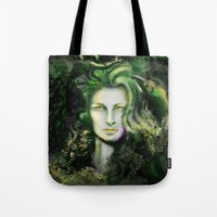 ireland Tote Bags featuring Ireland by Holly Carton