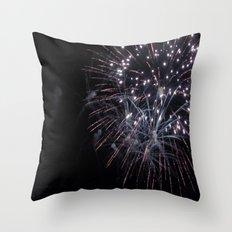 Blue Sparks Throw Pillow