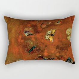 """Odilon Redon """"Evocation of butterflies"""" Rectangular Pillow"""