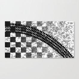 Flag Skid Mark Canvas Print