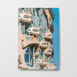 Casa Batllo, Antoni Gaudi Barcelona, City Of Barcelona Architecture, House Batllo, Downtown Barcelona City, Spain Travel Metal Print