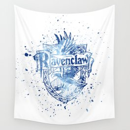 Ravenclaw House silhouette splatter Wall Tapestry
