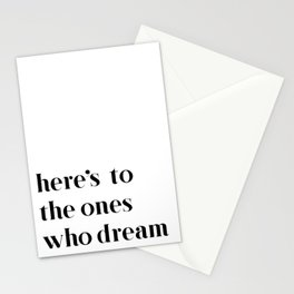 Here's to the ones who dream: La La Land Stationery Cards