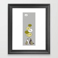 singing birds Framed Art Print