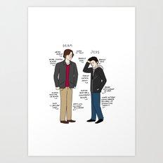 Dean vs. Jess Art Print
