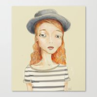 ginger Canvas Prints featuring Ginger by Seren Söyler