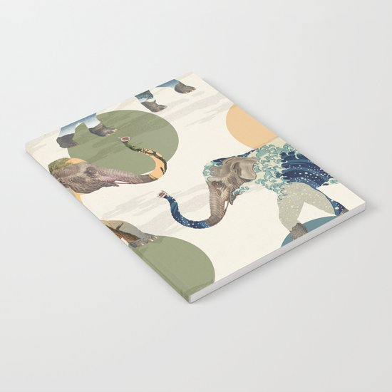 Elephant Polka Notebook