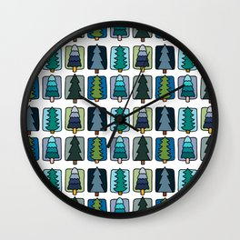 Cute Forest Cool Palette  Wall Clock