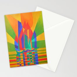 Dreamboat - Cubist Junk In Primary Colors Stationery Cards