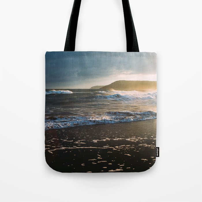 Misty Ocean #sunset Tote Bag