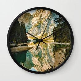 Lago di Braies, Braies, Italy Wall Clock