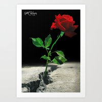 2pac Art Prints featuring The Rose that Grew from the Concrete by PeterPerlegas Fine Art