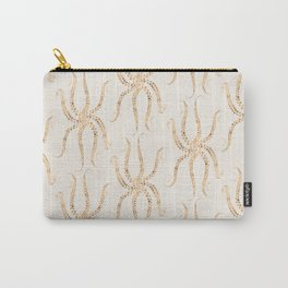 Cream Gold Tentacles Carry-All Pouch