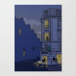 Streets of Paris, France Canvas Print