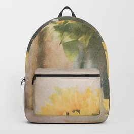 First Sunflowers of Autumn Backpack